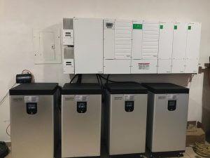 four  Solar 18.5 KWH Evault Solar Battery