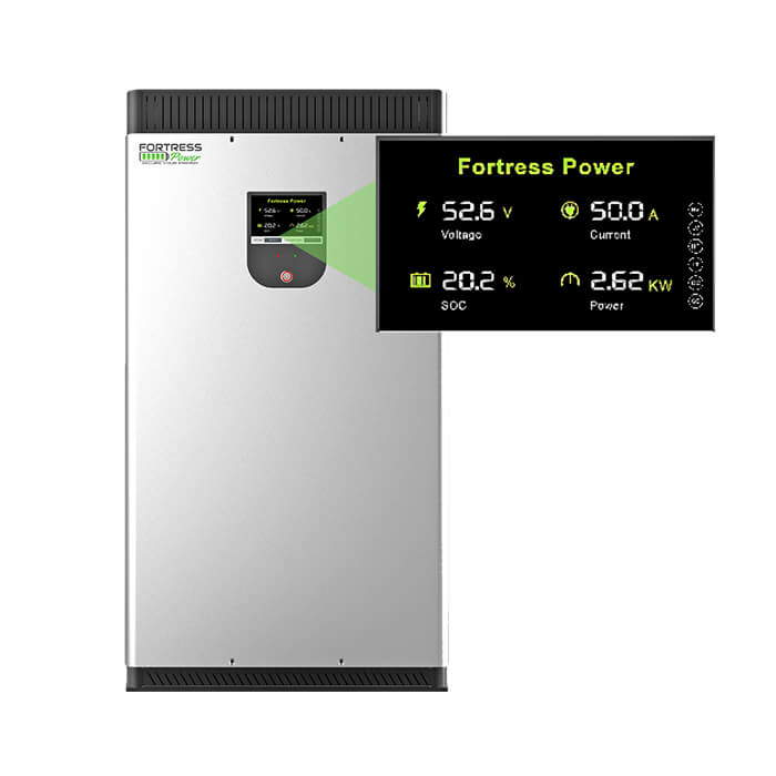 Fortress Power evault led screen indicator