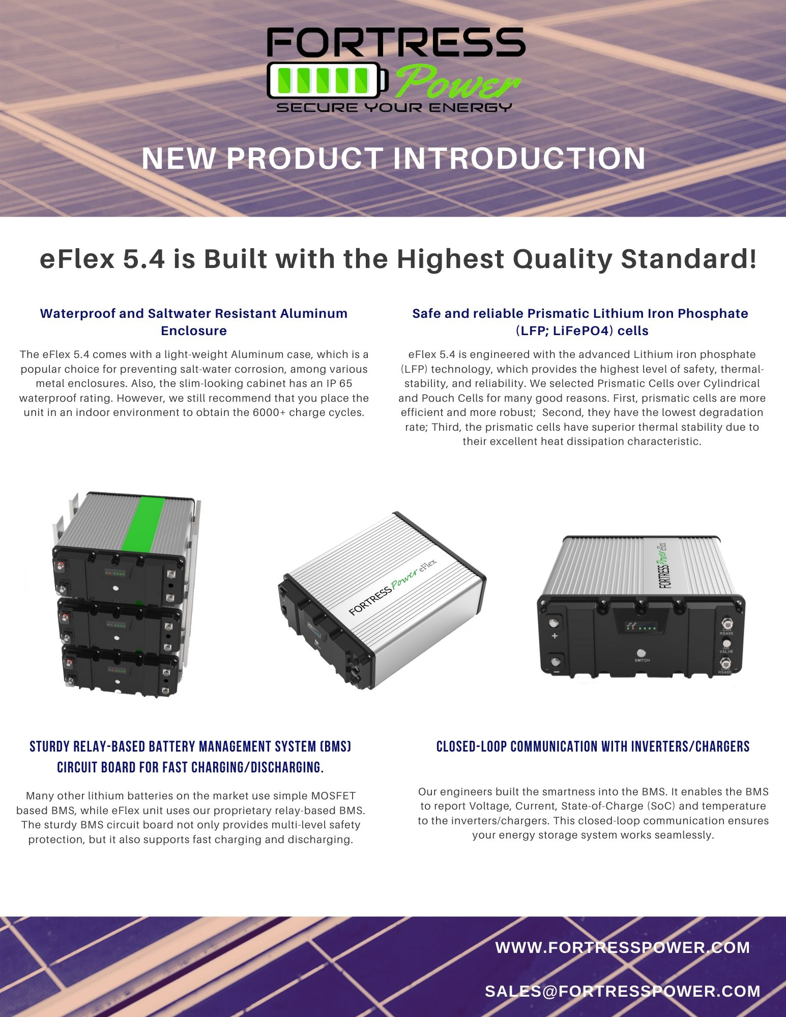 eFlex 5.4 is Built with the Highest Quality Standard! 1